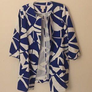 NWT Chico's Royal Blue & White Jacket - Size 2